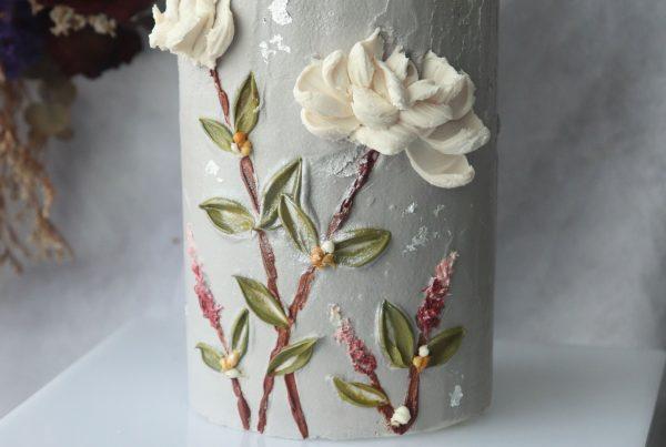 Basic Palette Knife Flower Sculpture